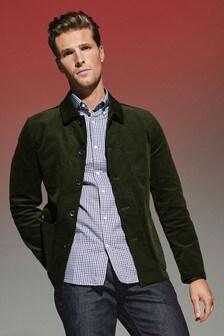 Вельветовая куртка в рабочем стиле