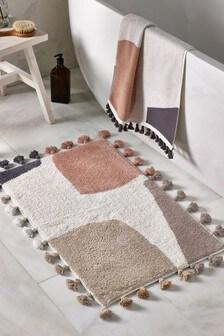 שטיחון לאמבטיה בדוגמה אבסטרקטית