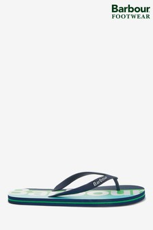 Barbour® Green Stripe Beach Sandals