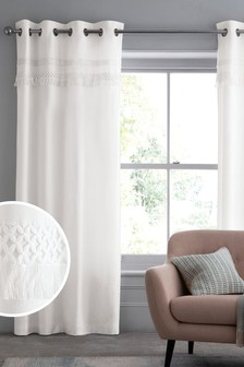 Fringe Eyelet Lined Curtains