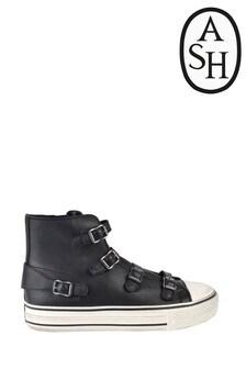 נעלי ספורט היי-טופ של Ash בצבע שחור עם אבזם