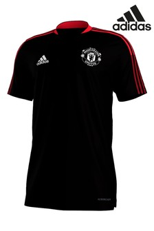 adidas Black Manchester United T-Shirt