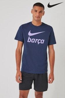 Nike Navy Barcelona Swoosh T-Shirt