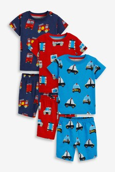 3 Pack Short Pyjamas (9mths-10yrs)