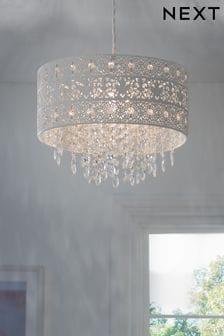 White Maya Easy Fit Pendant Lamp Shade