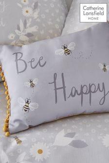 Catherine Lansfield灰色Bee Happy蜜蜂靠墊