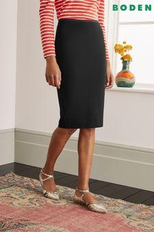 Boden黑色Hampshire羅馬布裙款