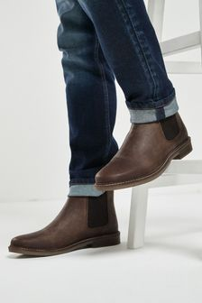 Waxy Finish Chelsea Boots