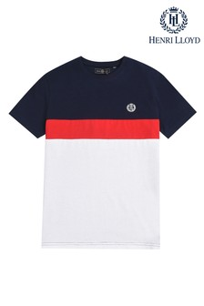 Camiseta con diseño de paneles cosidos de Henri Lloyd