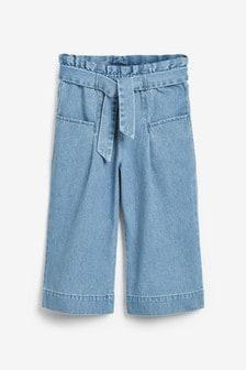 腰部綁帶牛仔褲 (3-16歲)
