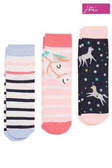 Joules Brilliant Bamboo Socken, blau, 3er-Pack