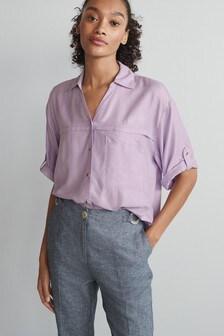 قميص عملي كم قصير