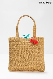 White Stuff Natural Rhea Paper Raffia Tote Bag