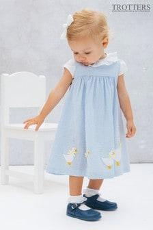 Trotters London Jemima藍色背心連身裙