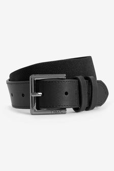 Leather And Elastic Belt