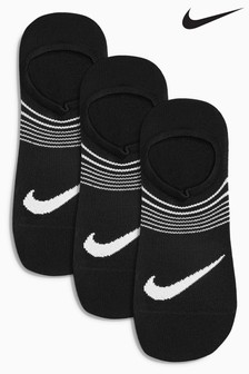Nike Adults Black Lightweight Training Invisible Socks 3 Pack