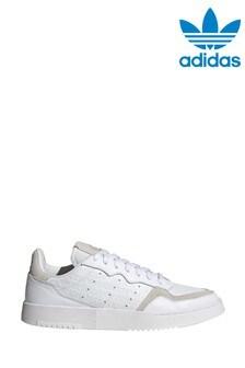 Белые/серые кроссовки adidas Originals Supercourt