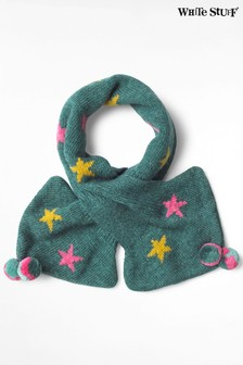 White Stuff Green Kids Star Tippet Scarf