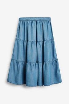 חצאית מקסי עם שכבות שלTENCEL™ (גילאי 3 עד 16)