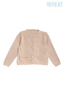 Wheat Pink Ibi Knit Cardigan