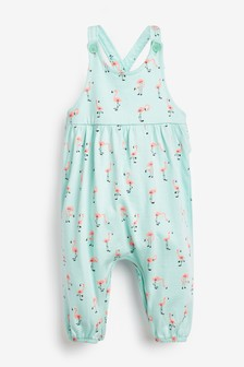 Jersey-Overall mit Flamingo-Muster (0 Monate bis 2 Jahre)