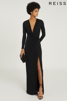Reiss Black Lillian Dress