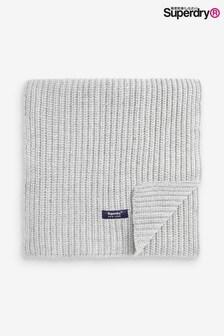 Superdry灰色繡花圍巾