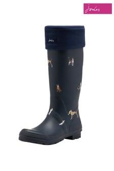 Темно-синие флисовые носки для резиновых сапог Joules Welton