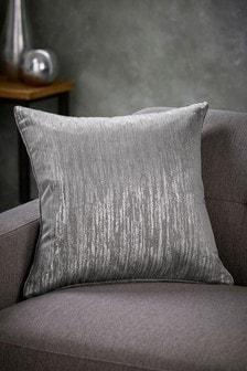 Silver Grey Liquid Shine Cushion