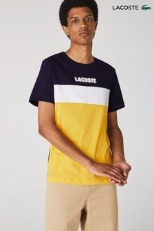 Lacoste® Logo-T-Shirt in Blockfarben