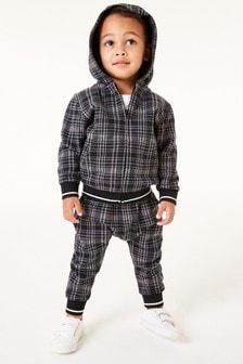 Трикотажные спортивные штаны и топ на молнии в клетку (3 мес.-7 лет)