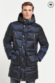 Shower Resistant Longline Puffer Jacket (362831) | $125