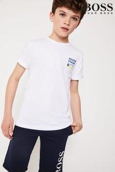 Biele tričko s logom BOSS