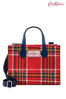 Cath Kidston Red Grab Clarendon Check Cross Body Bag