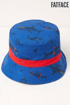 FatFace Blue Shark Bucket Hat