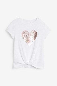 T-shirt met hartlovertjes (3-16 jr)