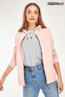 Superdry Pink Elite Zip Through Hoody