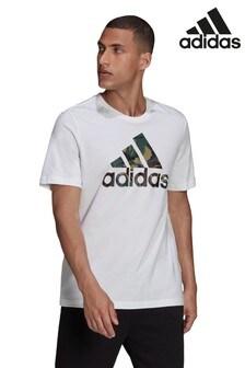 adidas Log Fill T-Shirt mit Camo-Print
