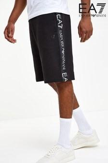Emporio Armani EA7 Black Tape Shorts