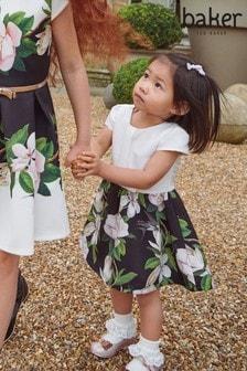 فستان بناتي أسود زهور بأربة منBaker by Ted Baker