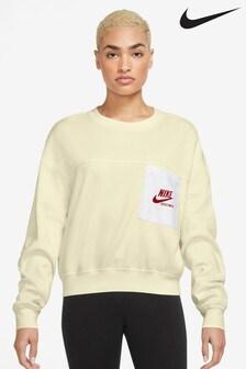 Nike Heritage Rundhalspullover aus Fleece