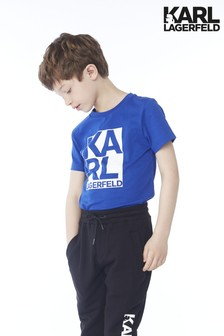 Karl Lagerfeld Kids Blue Square T-Shirt