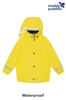 Muddy Puddles Yellow Rainy Day Waterproof Jacket