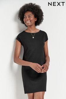 Свободное платье-туника с короткими рукавами