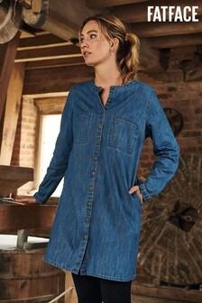 FatFace Blue Lissy Denim Shift Dress