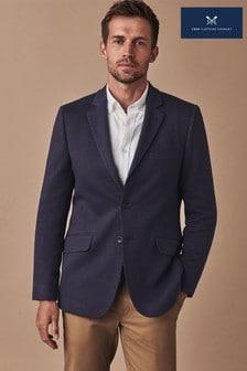 Crew Clothing Blue Birdseye Jersey Blazer (365121) | $220