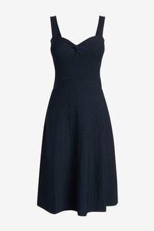 Twist Front Flare Dress