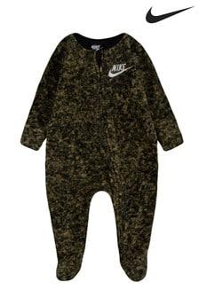 חליפת שינה מיקרופליז בצבעי הסוואה לתינוקות של Nike