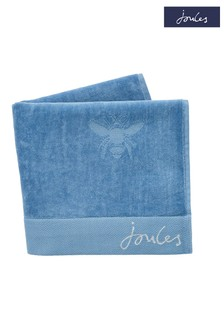 Joules Pale Blue Botanical Bee Towel