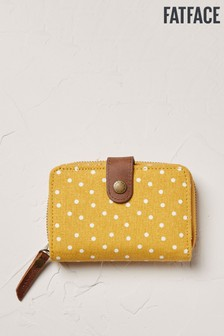 FatFace Yellow Canvas Spot Purse